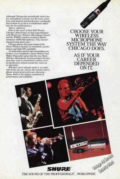Chicago's Brass Section Shure Microphones (1987)