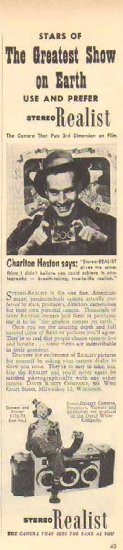 Stereo Realist Camera – Charlton Heston (1952)
