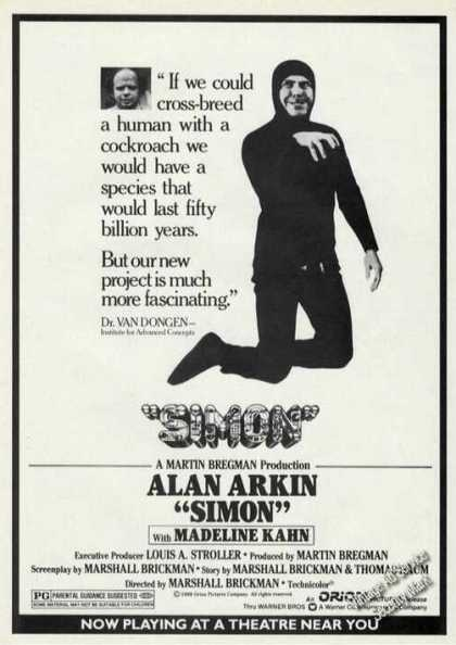 "Alan Arkin Photo ""Simon"" Rare Movie Promo (1980)"