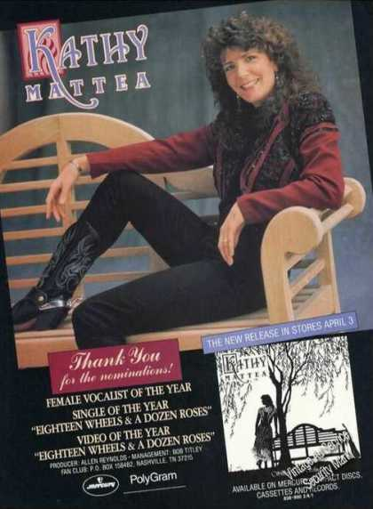Kathy Mattea Picture Music Album Promo (1989)