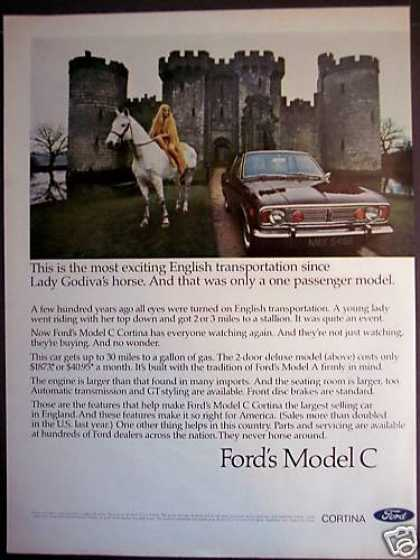 Ford Model C Cortina Girl With Horse Castle Car (1968)