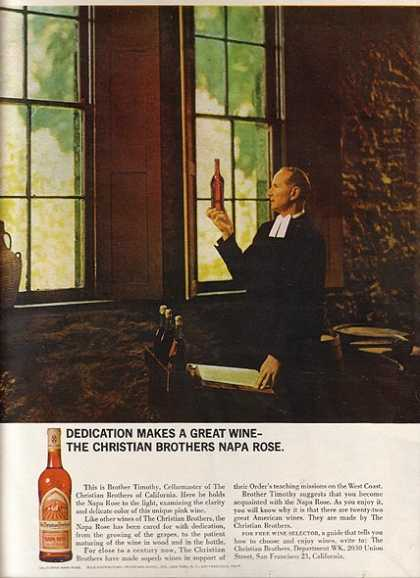 Christian Brother's Napa Rose Wine (1965)