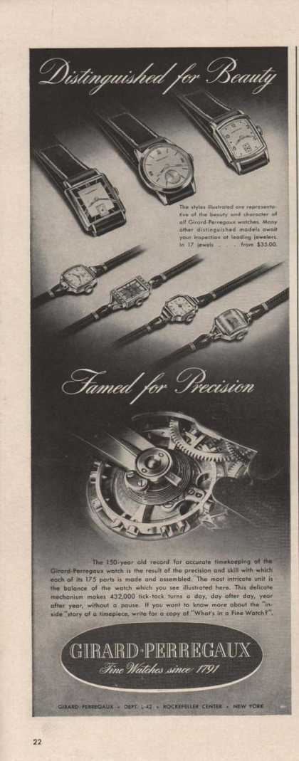 Girard Perregaux Fine Watches (1942)