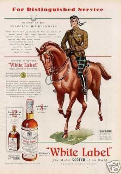 Dewar's Scotch Whisky Ad Seaforth Highlanders (1939)