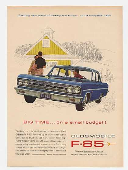 Blue Olds Oldsmobile F-85 Big Time Small Budget (1963)