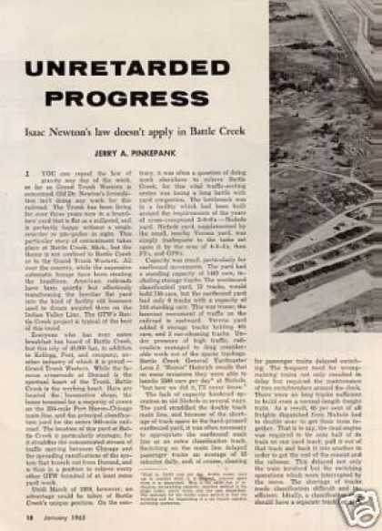 """Unretarded Progress"" Article/gtw/bat (1963)"