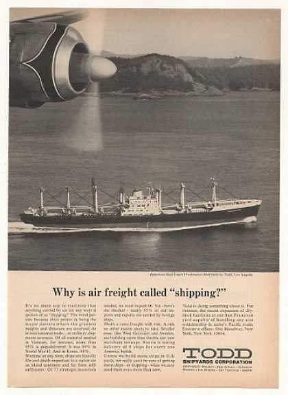 American Mail Line Washington Mail Ship Todd (1969)