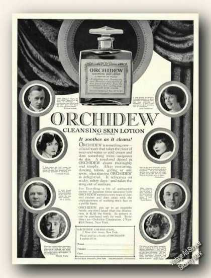 Orchidew Lotion Stage Celebrity Endorsements (1926)