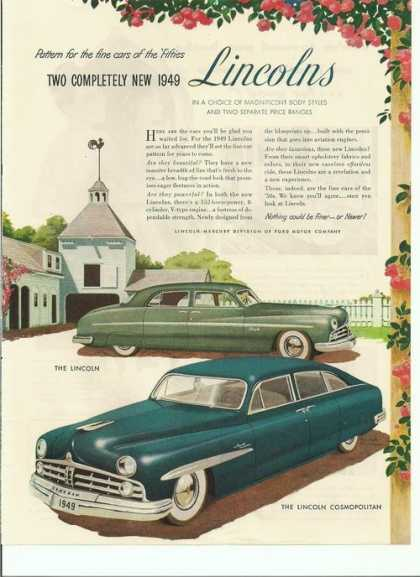 Pattern for the Fine Car Lincolns (1948)