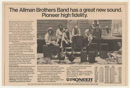 Allman Brothers Band Pioneer Speakers (1974)