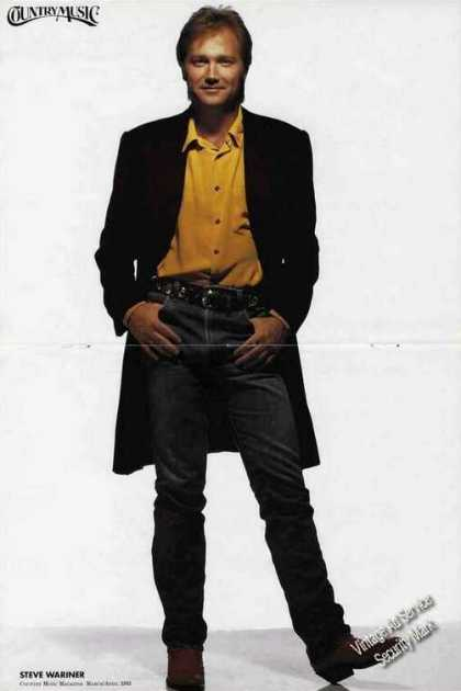 Steve Wariner Photo Large Magazine Foldout (1993)
