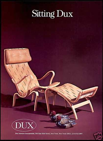 DUX Interior Chair Duck Decoys Furniture (1979)
