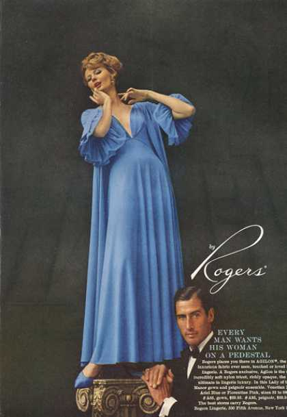 Rogers Fashion Gown Woman On Pedestal (1959)