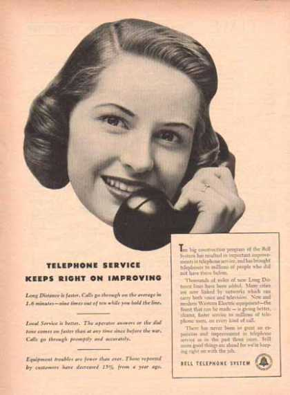 Bell Telephone System – Improving Service (1949)