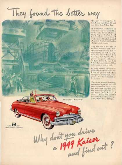 Kaiser Convertible Wwii Liberty Ships Ad T (1949)