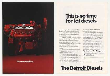 Detroit Diesel 92 Lean Machine Truck Engine 2-P (1974)