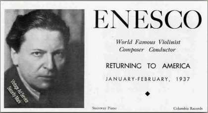 Georges Enesco Violinist Composer Conductor (1936)