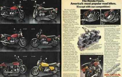 Honda Fours America's Most Popular Road Bikes (1977)