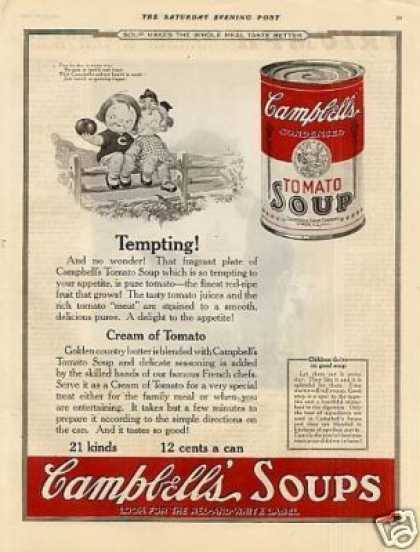 "Campbell's Tomato Soup Color Ad ""Tempting... (1923)"