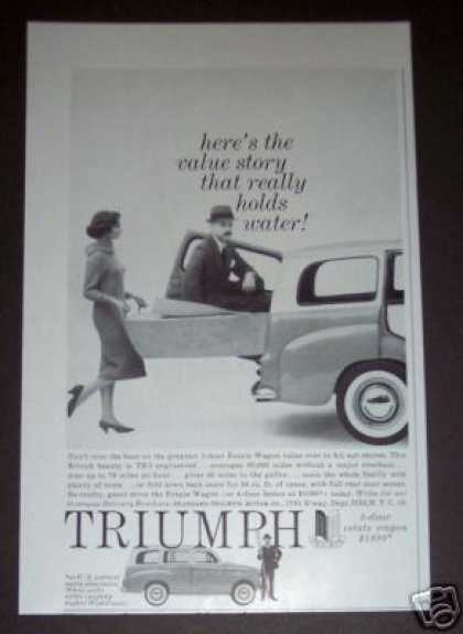 Original Triumph Estate Wagon Car (1958)