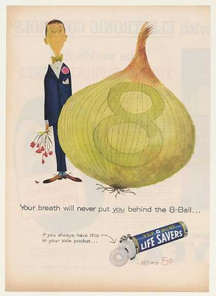 Pep O Mint Life Savers Man Behind 8-Ball Onion (1960)