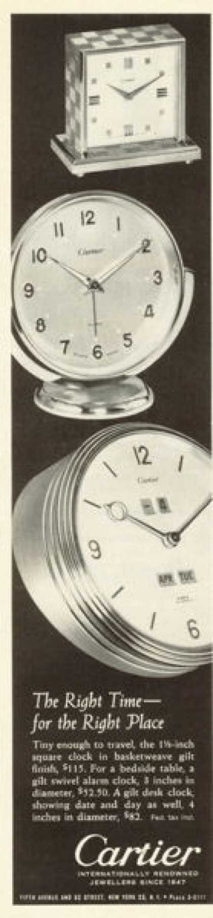 Cartier Round Square Travel Clocks (1961)