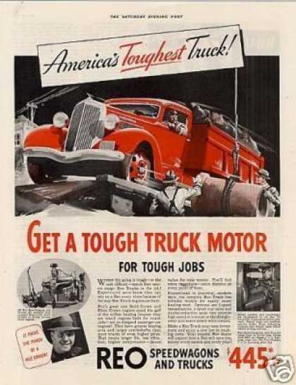"Reo Truck Color Ad ""Get a Tough... (1936)"