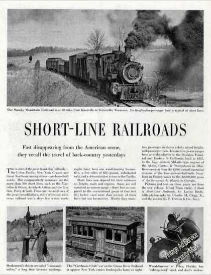Short-line Railroads Magazine Photos & Article (1947)