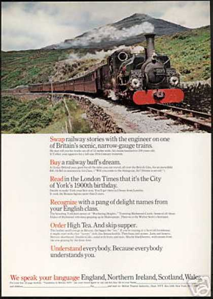 England British Travel Narrow Gauge Train (1971)