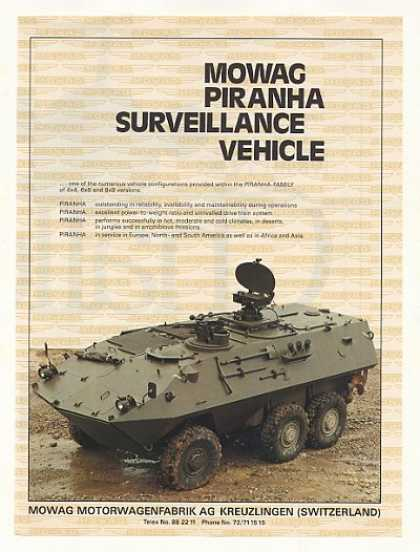 Mowag Piranha Surveillance Vehicle Photo (1986)