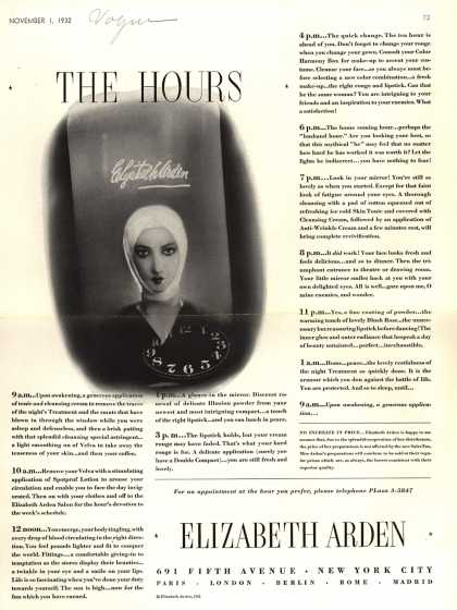 Elizabeth Arden – The Hours (1932)