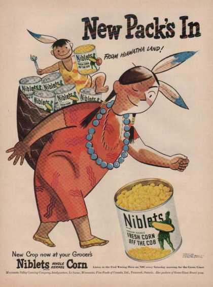 Niblets Whole Kernel Corn Indianprin (1949)