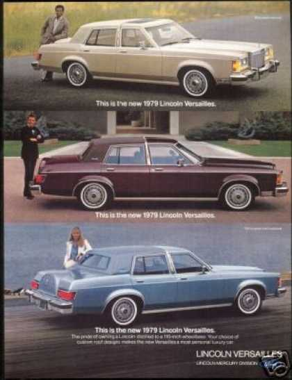 Lincoln Versailles Vintage 3 Photo Car (1979)