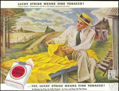 Tobacco Expert Vintage Lucky Strike Cigarettes (1943)
