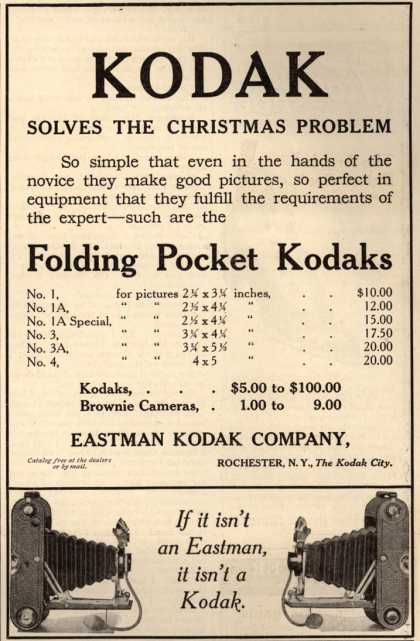 Kodak's Folding Pocket cameras – Kodak (1908)