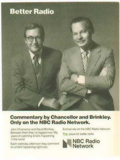 NBC Radio Network – John Chancellor David Brinkley (1977)