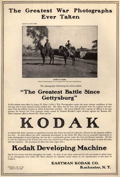 "Kodak – The Greatest War Photographs Ever Taken. ""The Greatest Battle Since Gettysburg."" (1904)"