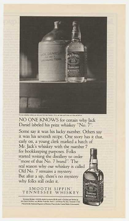 Jack Daniel's Whiskey Why Old No. 7 Mystery (1992)