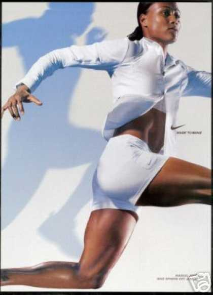 Marion Jones Photo Print Nike Sport Fashion (2004)
