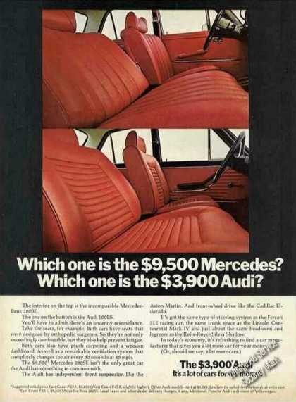 The $3900 Audi Collectible Car (1972)