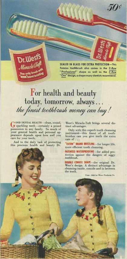 Dr Wests Miracl Tuft Tooth Brush (1944)