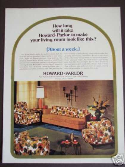 Original Howard Parlor Furniture Retro Decor (1966)
