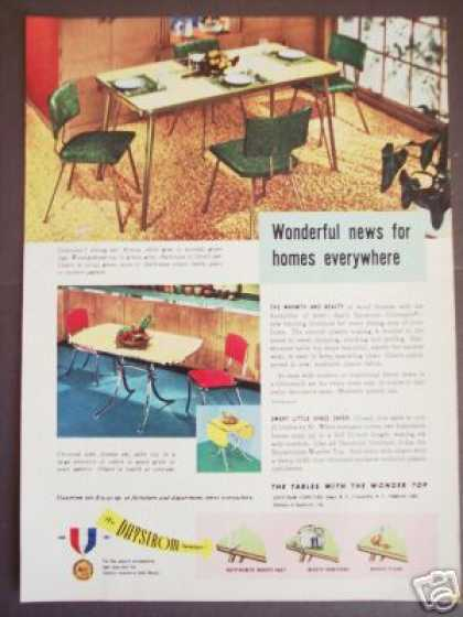 Daystrom Furniture Retro Chrome Dinette Set (1951)