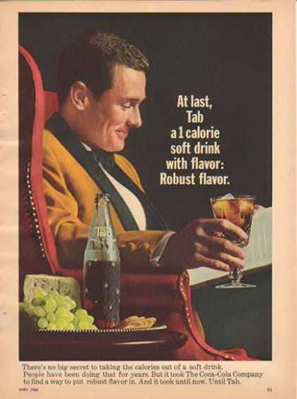 TAB Soft Drink – Relaxing with a book and Tab – Sold (1965)
