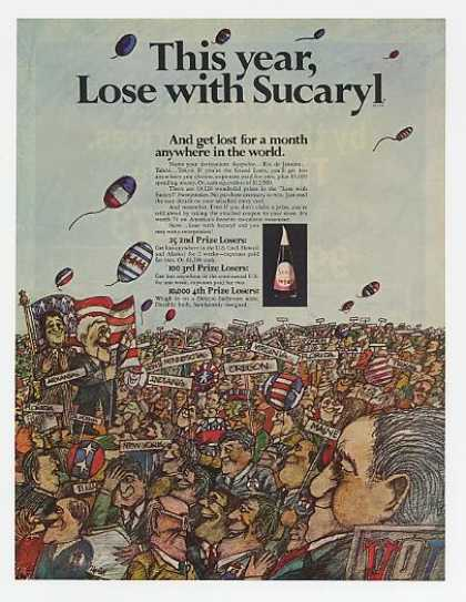 Lose with Sucaryl Sweetener Election art (1968)
