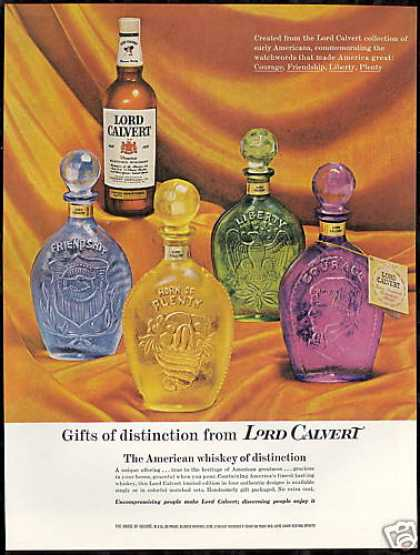 Lord Calvert Whiskey Limited Ed Bottles Photo (1960)