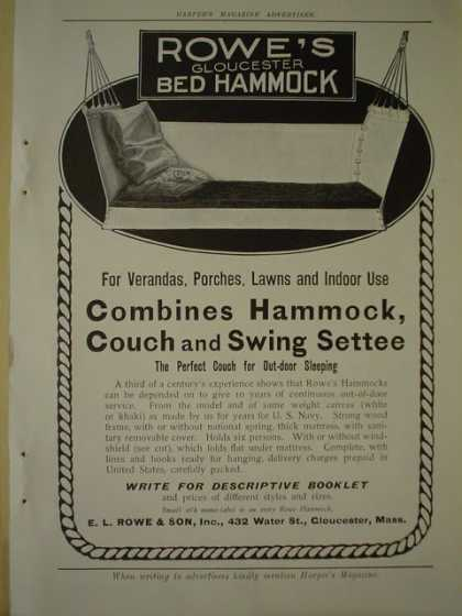 EL Rowe and Son Gloucester Bed Hammock (1910)