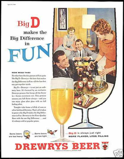 Drewrys Beer Big Difference In Fun (1960)