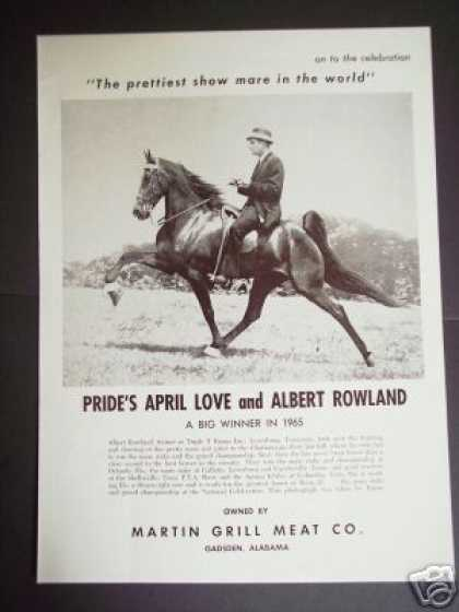 Walker Show Horse Pride's April Love Photo (1965)