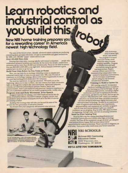 NRI Schools – Learn Robotics – Sold (1986)